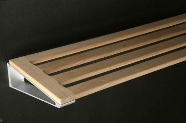 Wood shelf in handmade danish finish