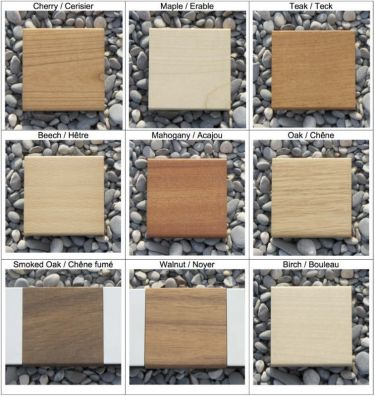 Wood types for KNAX wall nets