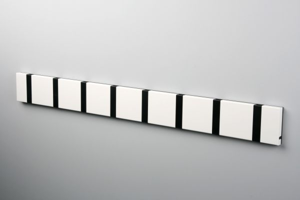White wall mounted coat rack for office